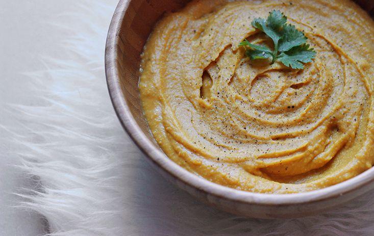 velours de patate douce et lentilles corail par Mango and Salt
