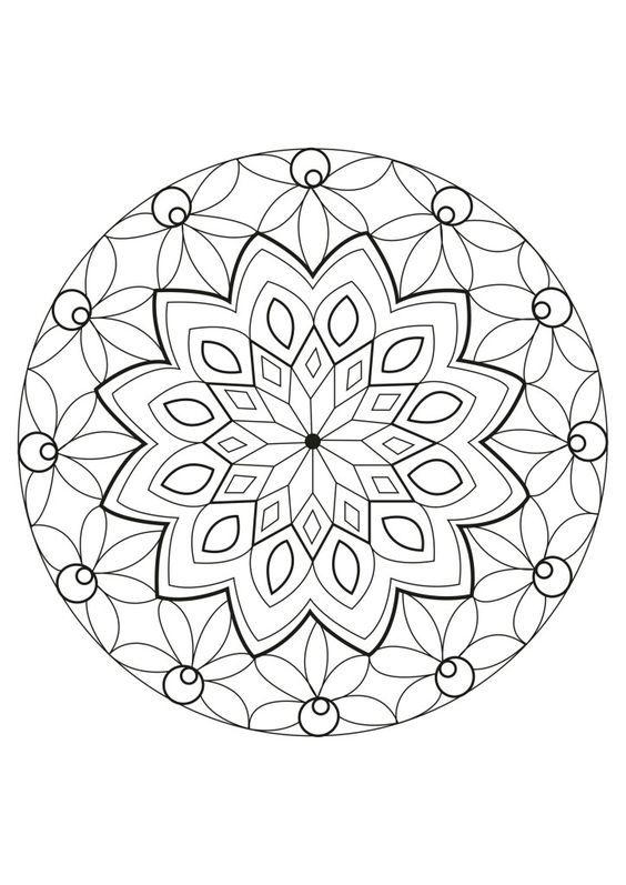 طرح خام نقطه کوبی و ویترای روی شیشه و سفال ب Mandala Coloring