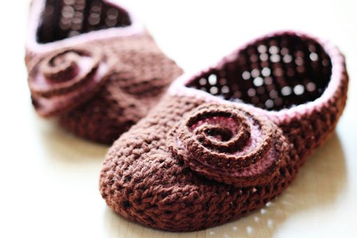 the cutest crochet slipper you ever did see