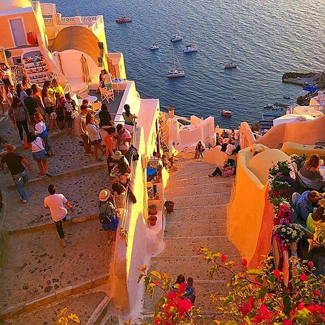SANTORINI.  158 days until summer in Santorini! There's no place like Greece. Photo by @dashne83 #greece #santorini #hellas #visitgreece #greekislands #greeksummer #summeringreece #greeklife #greek #greeks #greekgirl #ilovegreece #instagreece