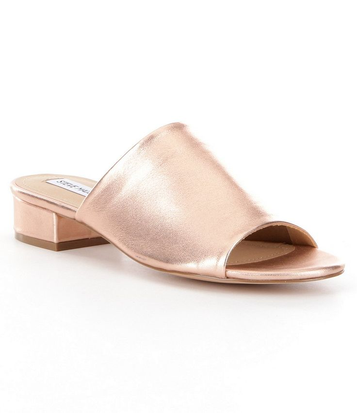 Shop for Steve Madden Briele Metallic Leather Slip-On Peep Toe Dress Mules at Dillards.com. Visit Dillards.com to find clothing, accessories, shoes, cosmetics & more. The Style of Your Life.