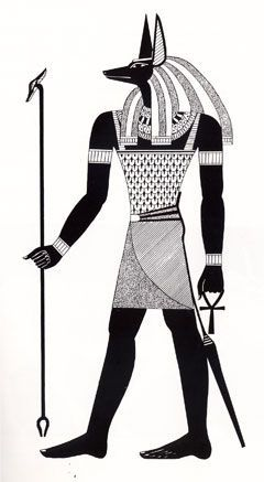 エジプト神のおしゃれイラスト
