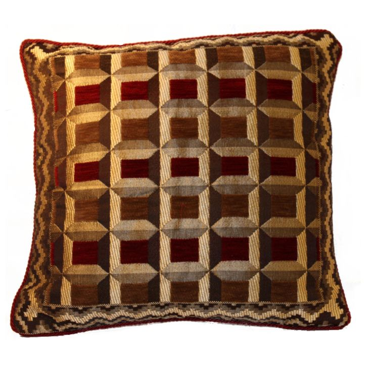 Accentuate the decor of your living room with this piece of cushion cover which is in combination of Red/Maroon and Golden Brown color in beautiful checks  This attractive product will lift the mood of your friends & families. Further, this cushion cover will blend well with all interior types and can be placed in your living room and also in your bedroom. FEATURES : 16 Inch * 16 Inch / 40.5 cm *  40.5 cm