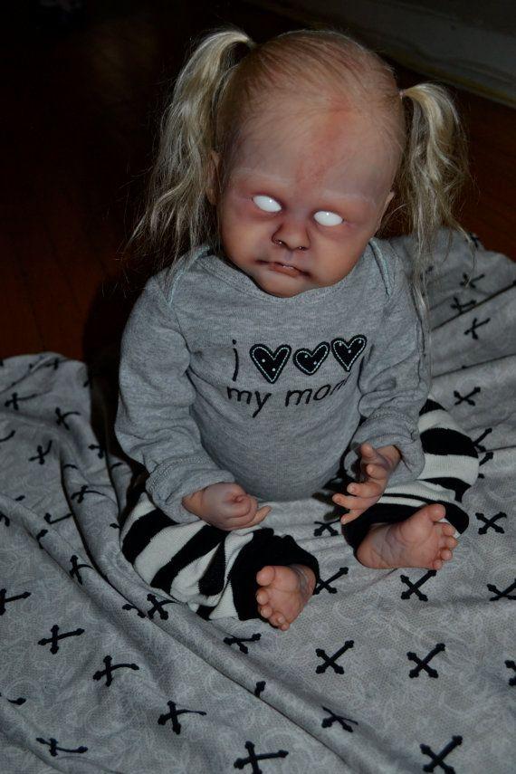 Reborn baby ZOMBIE goth horror ooak by DelicateCreatures on Etsy, $399.00