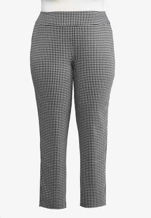 47f5b71c50a Cato Fashions Plus Size Houndstooth PullOn Pants  CatoFashions ...