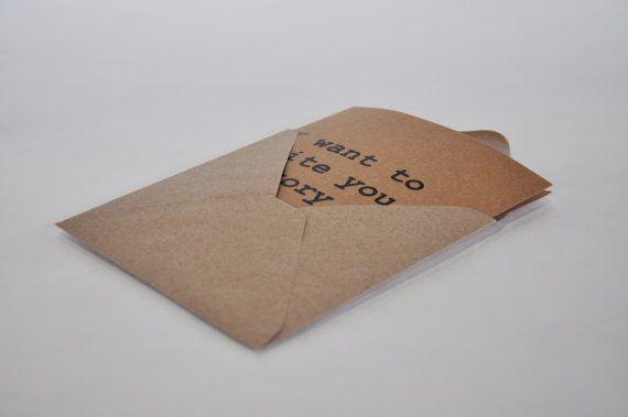 Voglio+scrivere+U.+Piazza+Card++busta.+Carta+di+IntoTheTreees
