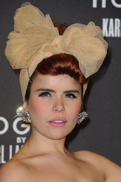 Millinery, style and music icon Paloma Faith. Flawless... Except, that black bobby pin has to go!