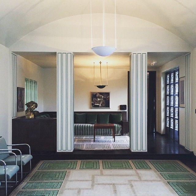 Eliel Saarinen House, built in 1930 at the Cranbrook School of Art, MI. The Saarinen home studio.