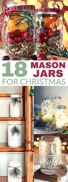 These 18 DIY Mason Jar Ideas Are Perfect For Christmas Decorating And Gifts! I love the potpourri ideas!