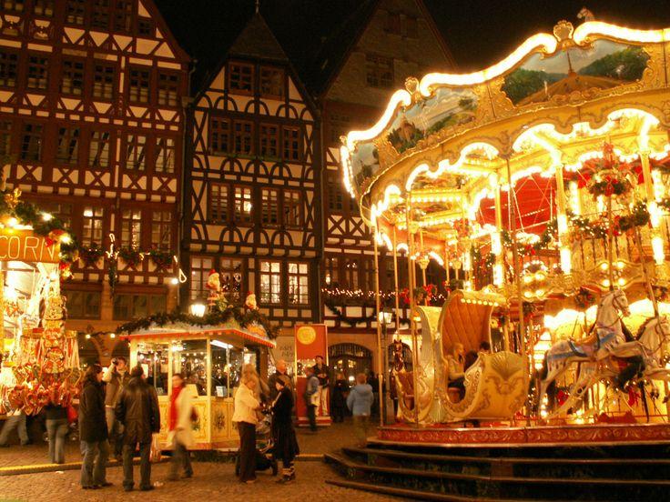 Christmas Markets (Weihnachtsmarkt) in Germany by Sharon In/// Weihnachtsmarkt Römerberg 2 Frankfurt, Germany