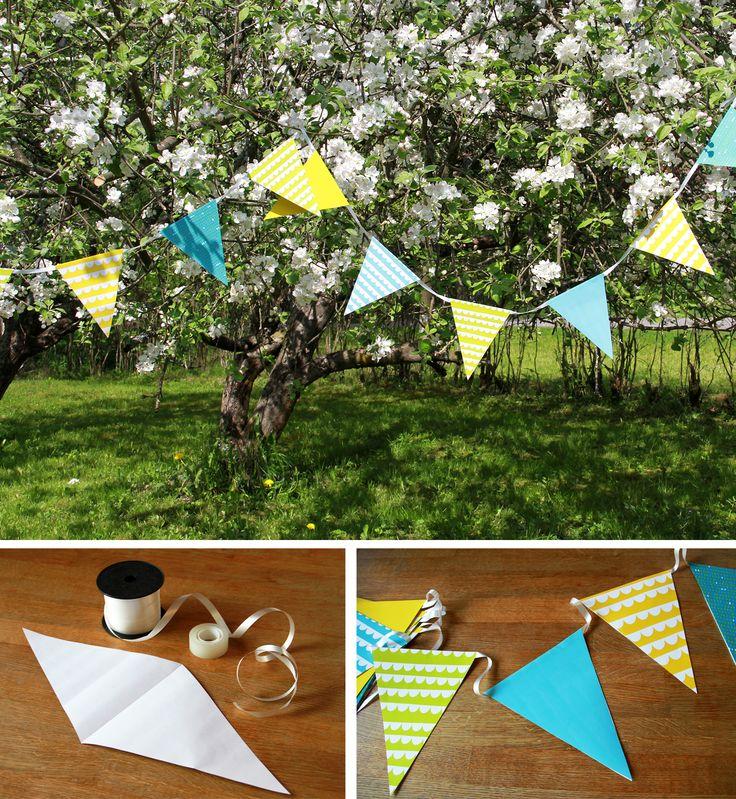 Viiri | lasten | lapset | idea | askartelu | kädentaidot | käsityöt | paperi | kesä | juhlat | karnevaalit | summer | party| carnivals | DIY | ideas | kids | children | crafts | home | fun | paper | Pikku Kakkonen