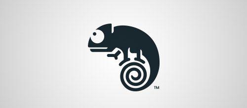chameleon studious logo design