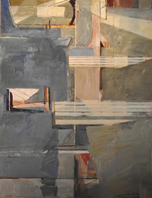 Simon McIntyre, 'Jetties 2'  Acrylic on canvas, 1670 x 1290 mm, POA at the Remuera Gallery