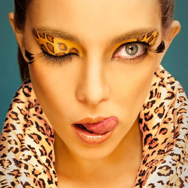 animal print make-up effects
