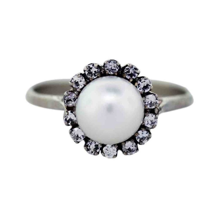 27 best pearl engagement rings images on Pinterest