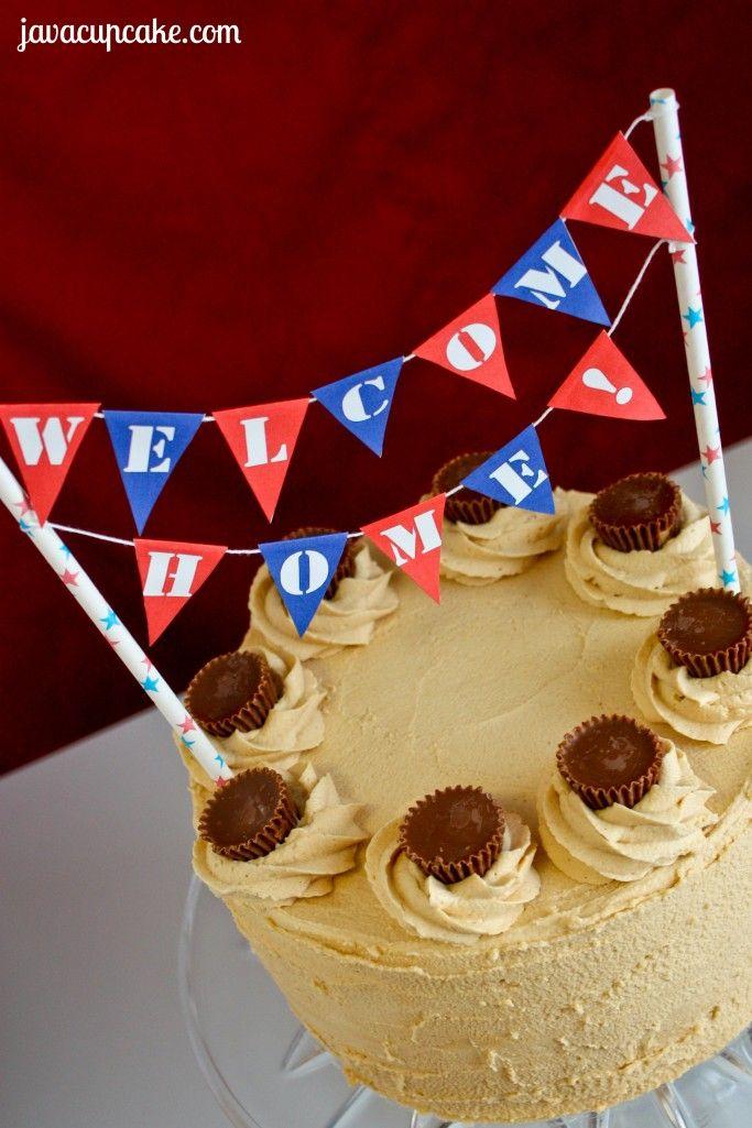 Free Printable: Welcome Home Cake Bunting by JavaCupcake.com