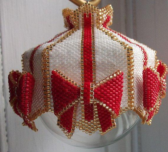 845 best Beaded ornaments images on Pinterest  Beaded christmas