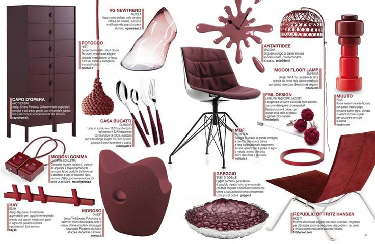 In the Marsala cocktail by DentroCasa there is also our Nest lamp!
