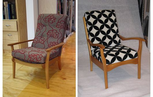 Two variations on the Cintique chair - Living Room, Wellington