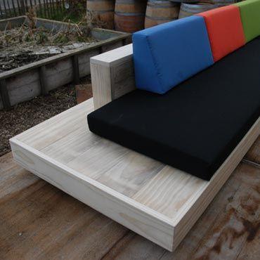 Loungeset 'cuba' in accoya hout | Meubelen | rawcreations bvba