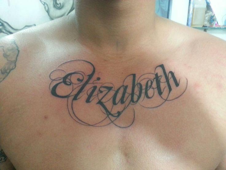 Name Tattoo Chest Tattoo