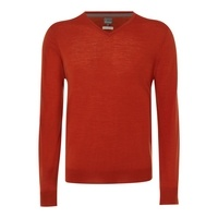 Men's Linea Loughton merino V-neck jumper, Mandarin