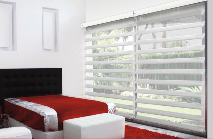 Open White Blinds