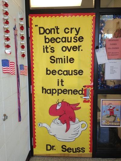 Dr. Seuss door decoration.