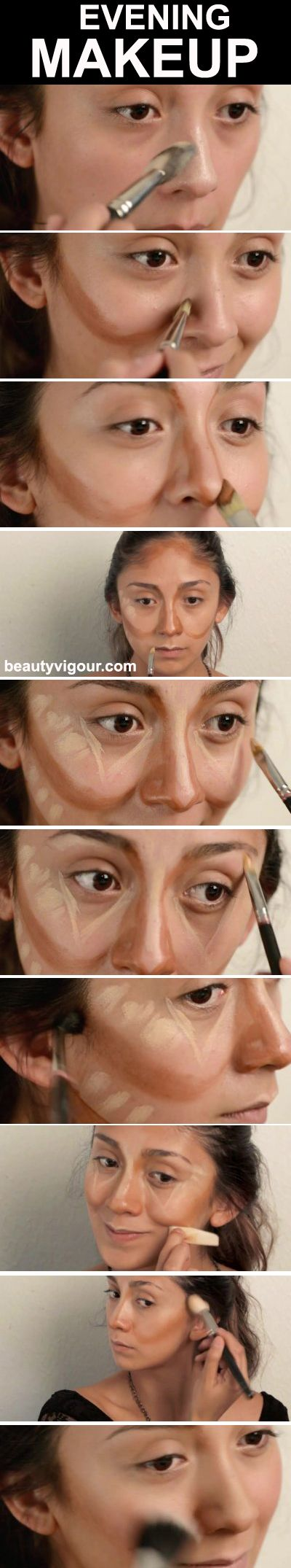 Step by Step for an Evening Make-Up