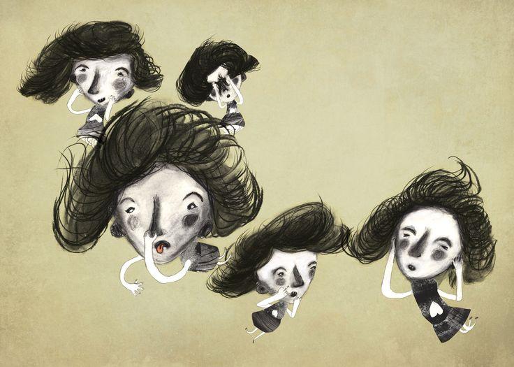 Illustration for Childrens book. Original titel : Dumme Lili © Stine Illum