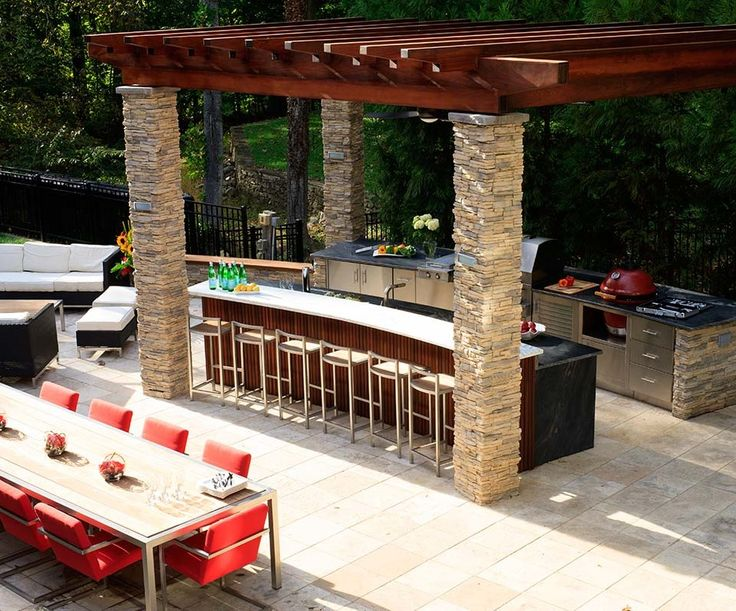 1396 best exteriors outdoor living images on pinterest for Luxury outdoor kitchen