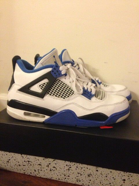 best service e546c 6cfb9 Air Jordan Retro 4 IV Motorsport Varsity Royal Size 8 used few creases   fashion  clothing  shoes  accessories  mensshoes  athleticshoes (ebay link)