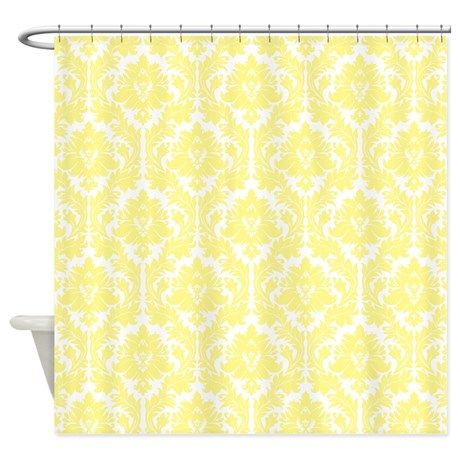 Light Yellow Damask Shower Curtain on CafePress.com