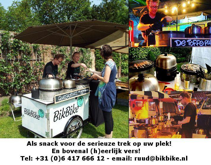 BikBike - lekker snacken met Ruud - http://www.oktip.nl/bikbike-lekker-snacken/ -BikBike - lekker snacken met Ruud Vanuit de BikBike worden de lekkerste hapjes ter plekke, in een paar minuten voor u klaar gemaakt. De Bikbike is uitgerust met professionele kookapparatuur en alles is aanwezig om uw evenement, feestje of activiteit tot een ware happening te maken. Compleet met...