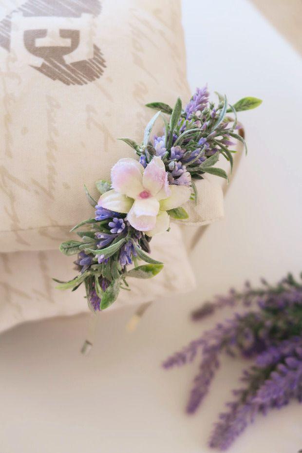 květinová čelenka levandulová