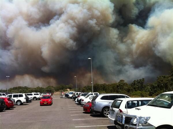 """From """"Scenes from the NSW bushfires"""" story by ABC News on Storify — http://storify.com/abcnews/scenes-from-nsw-bushfires"""