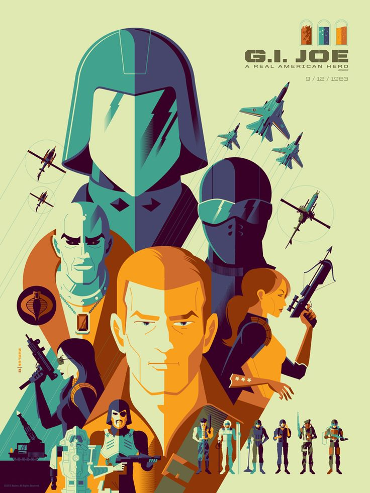 Acidfree Gallery LLC - GIJOE by Tom Whalen, $50.00 (http://www.acidfreegallery.com/gijoe-by-tom-whalen/)