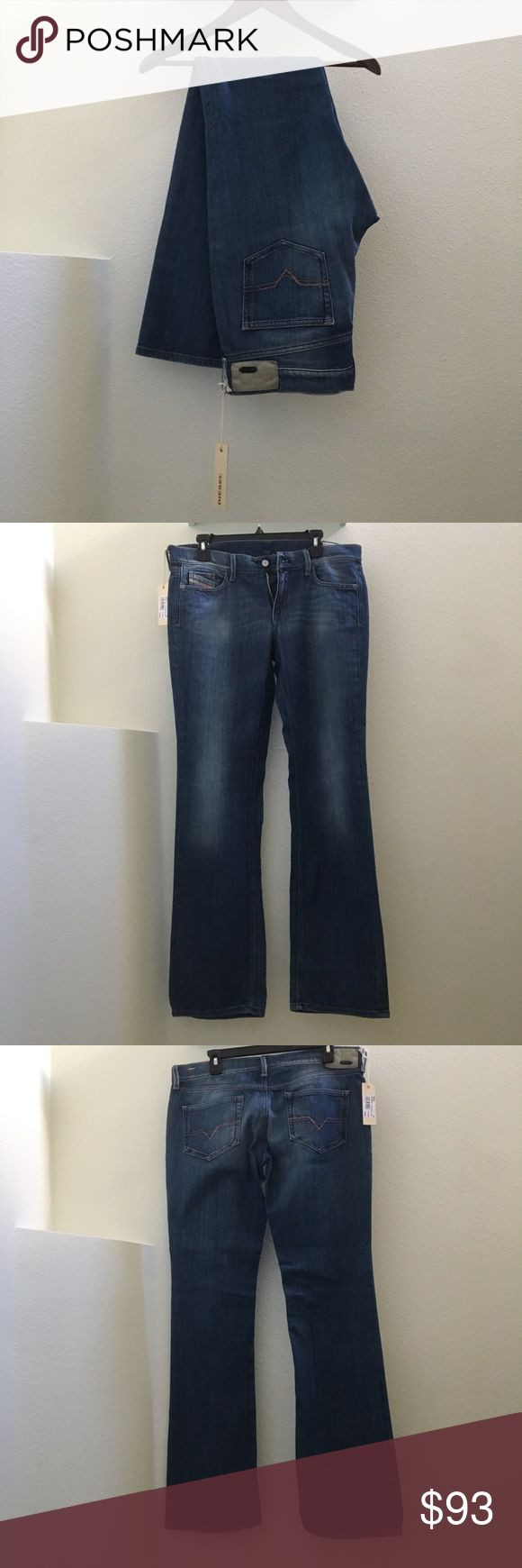 """NWT Diesel women's denim NO TRADES!   NWT Diesel women jeans size 31 x 34"""" Long. Straight leg. Brand new with tags and have never been worn or washed. Price is FIRM unless bundled   Smoke/pet free home, all sales final.   I have zero control of shipping once in the hands of USPS. Diesel Jeans Straight Leg"""