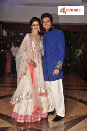 Actors Genelia D'Souza and Riteish Deshmukh