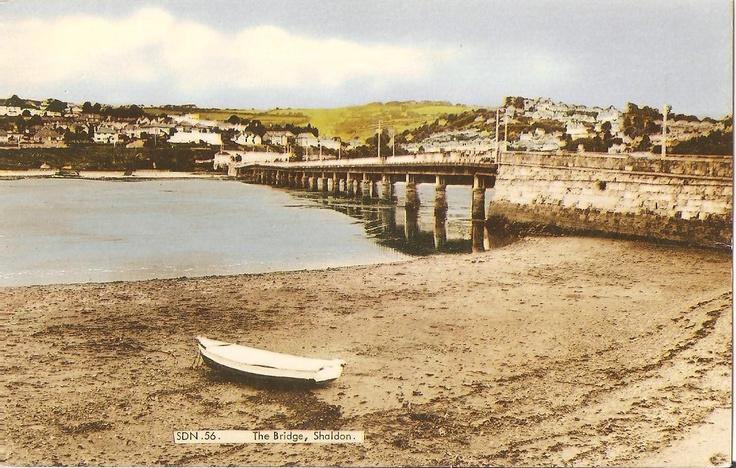 Shaldon and the Bridge from Teignmouth, circa 1960's -70's