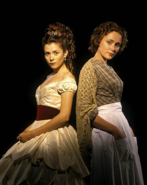 Bella (Anna Friel) and Lizzie (Keely Hawes) in Our Mutual Friend.