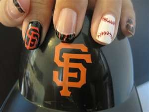 baseball nail art... can do it for any team