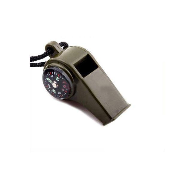Bussola del fischio 3in1 di Campeggio Di Sopravvivenza Termometro C1
