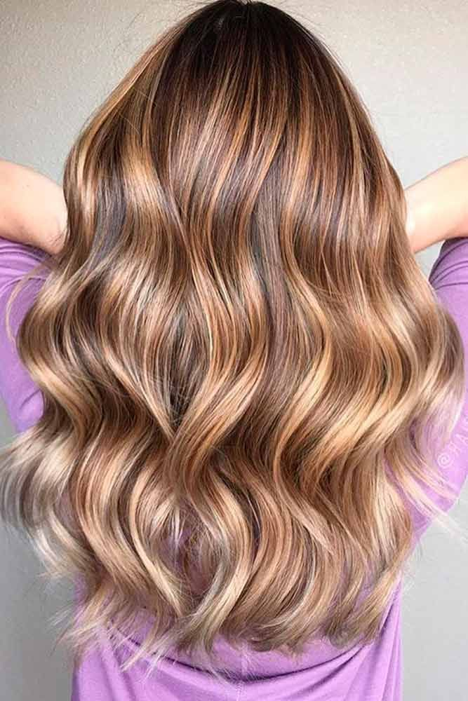 Light Brown Hair Color With High And Low Lights