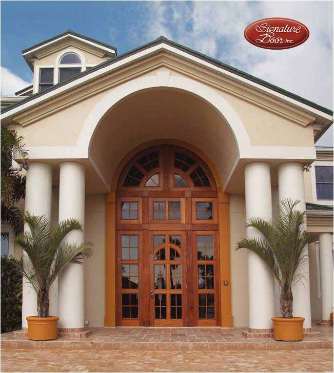 12ft door 23ft tall entryway! Yes it is impact hurricane rated! & 37 best Custom Wood Doors images on Pinterest | Custom wood Wood ... Pezcame.Com