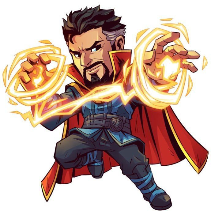 "8,628 curtidas, 41 comentários - Derek Laufman (@dereklaufman) no Instagram: ""Dr Strange that I designed for Marvels Super Hero Adventures. Copyright of Marvel. #marvel…"""