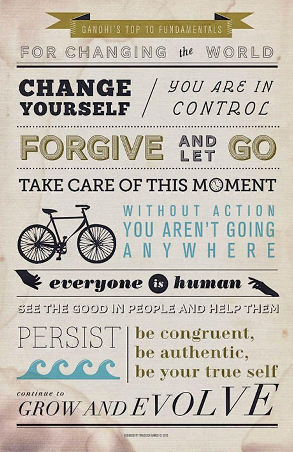 Ghandi. Such a wise man!