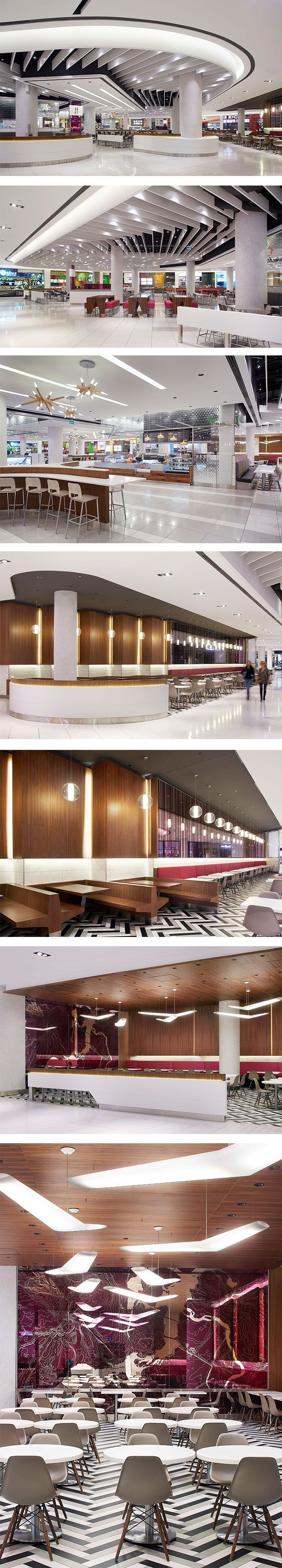Dining Hall at Rideau Centre in Ottawa, ON - designed by GH+A (in collaboration with Le Groupe Archifin Inc.) | Food Courts | Pinterest | Centre, Hall and Food…