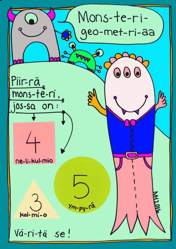 Monsterigeometriaa 1. luokalle.