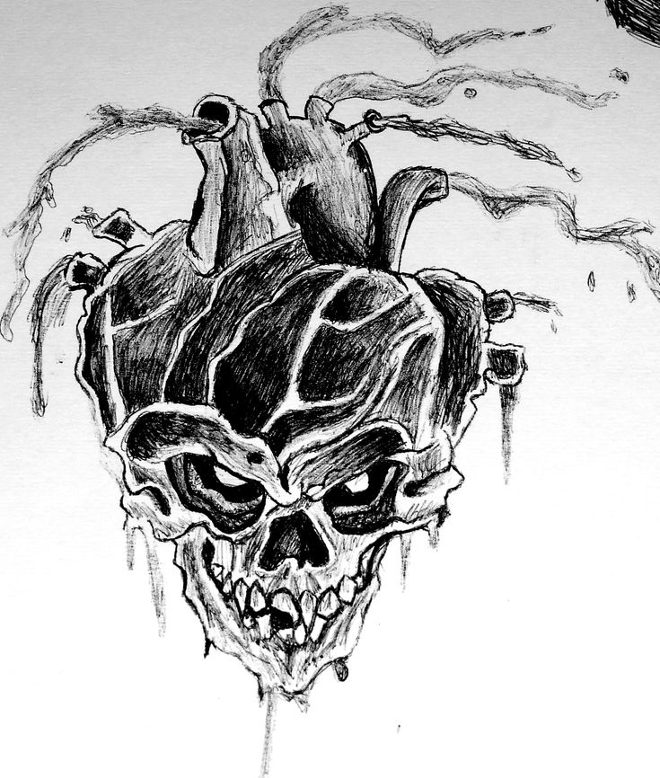 #Heart #Skull #Drawings #Art #Pen | My Art | Pinterest ...